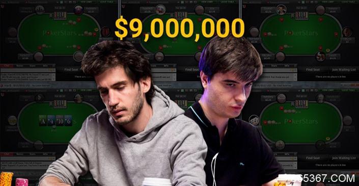 在线上共斩获900万美元的俩基友