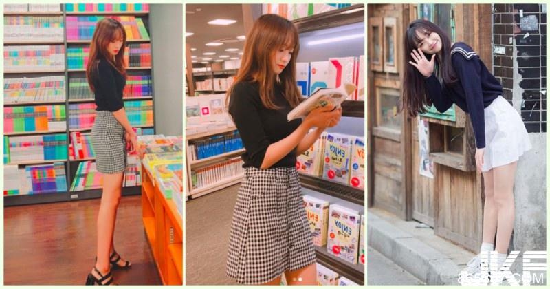 逛书店惊见「极品学生妹」高颜值让人醉了!超修长「白皙美腿」是想逼死谁…