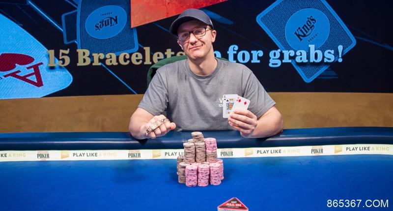 Kahle Burns取得WSOP-E €25,500铂金豪客赛冠军